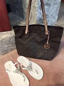 Authentic Michael Kors tote and Sandals