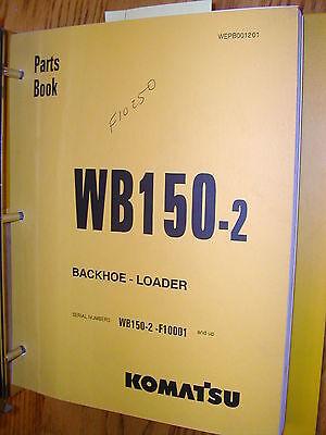 Komatsu Wb150-2 Parts Manual Book Catalog Tractor Backhoe Loader Guide List
