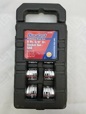"NEW DURALAST 8 PC. 3/8"" DRIVE SOCKET SET STORAGE CASE INCLUDED"