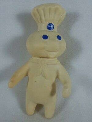 "Vintage Original Pilsbury Doughboy 7"" Rubber Figure 1971 Yellowed See Pics!"