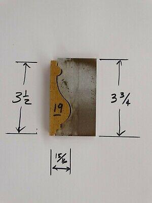 Shaper Moulder Custom Corrugated Backcb Knives For 3 12 Casingchair Rail