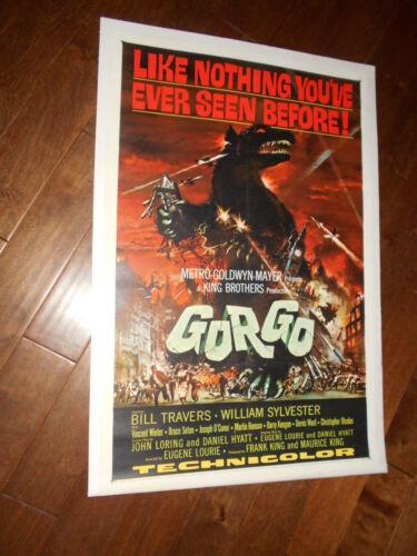 GORGO original 1961 27x41 linen-backed one sheet movie poster BILL TRAVERS