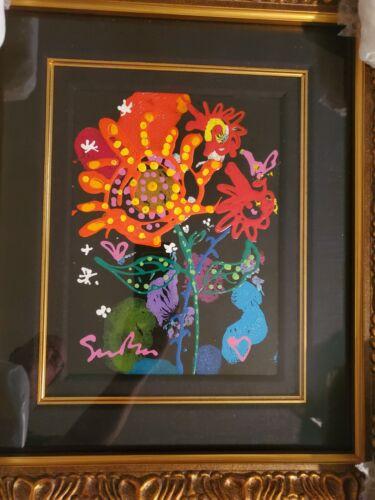 """Original Simon Bull Acrylic Painting on Paper (Love Garden VIII  ) """"Stunning"""""""