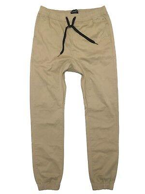 Zanerobe Mens Tan Light Brown Sureshot Jogger 34 Drawstring Pants