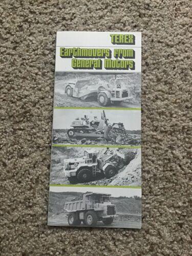 1974  Terex earthmovers, original sales literature.