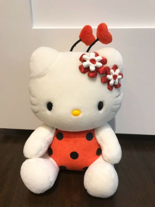 NWT Vintage 2000 Hello Kitty Sanrio Red Ladybug Plush Doll 11""