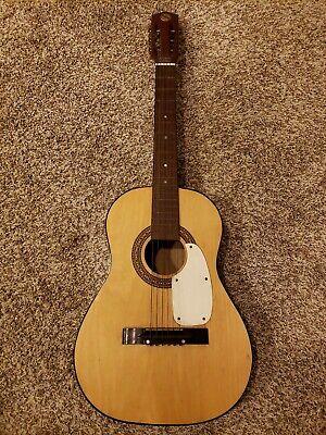 "Vintage Prestige Mahogany Parlor Acoustic Guitar 36"" Length Japan"