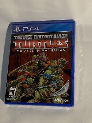 Teenage Mutant Ninja Turtles: Mutants in Manhattan Sony PlayStation 4 PS4 New