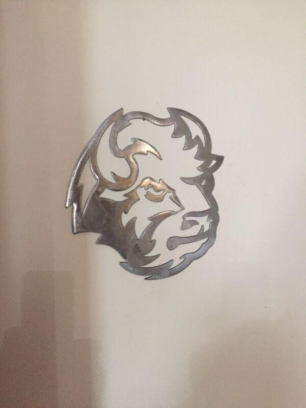 Bison Metal Art