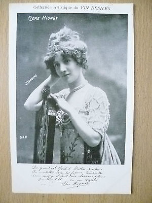 POSTCARDS of THEATRE & OPERA STARS- FLORE MIGNOT by Vin Desiles