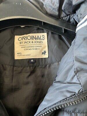 Jack & Jones ~ Men's Black Hooded Puffer Jacket ~ Size M