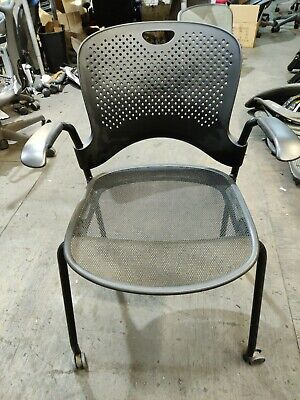 Herman Miller Caper Stacking Chairs Black Desk Chair With Mesh Seat Chairs