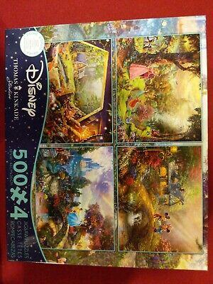 THOMAS KINKADE 4-in-1 DISNEY 500 Piece Jigsaw Puzzle