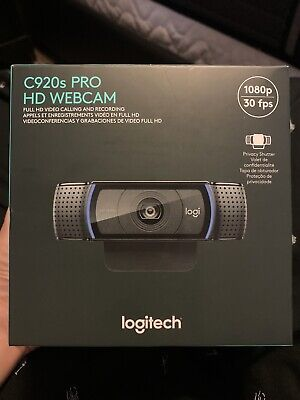 Logitech C920s HD Pro Webcam with Privacy Shutter 1080p *In Hand Fast Free Ship*