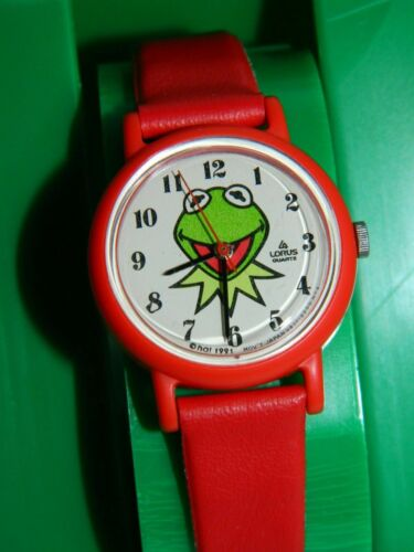 """Kermit the Frog from Jim Henson""""s Muppets  Vintage 1991 watch"""