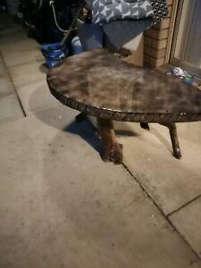 Handmade coffee table from jarrah
