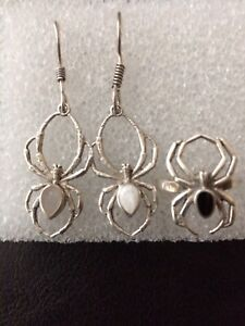 Sterling silver ring and earrings set