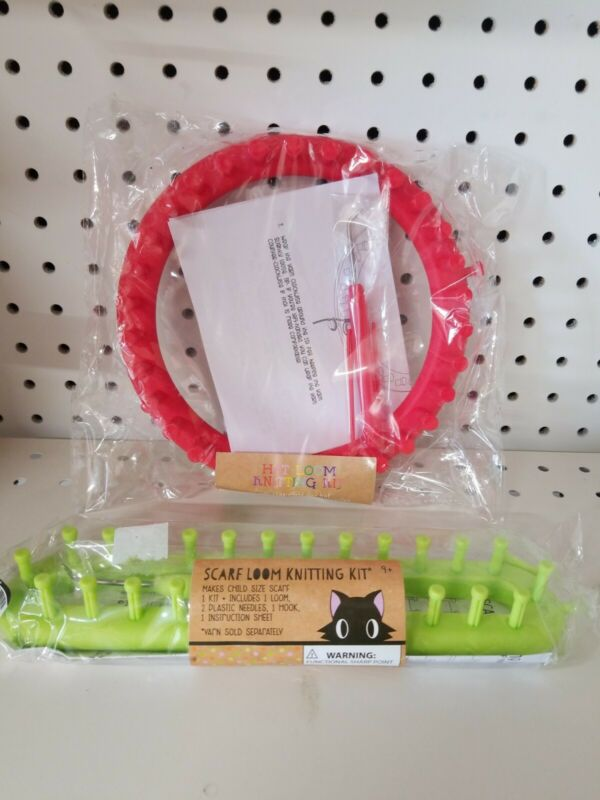 Scarf and Hat Loom Knitting Kit Lot - New