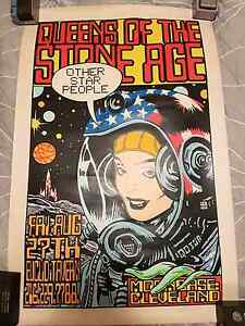 Queen of the stone age poster Mans Ruin Kozik Kyuss Beverly Hills Hurstville Area Preview