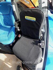 new holland /cnh/ t6 / t7 / tsa passenger seat cover / black with logo