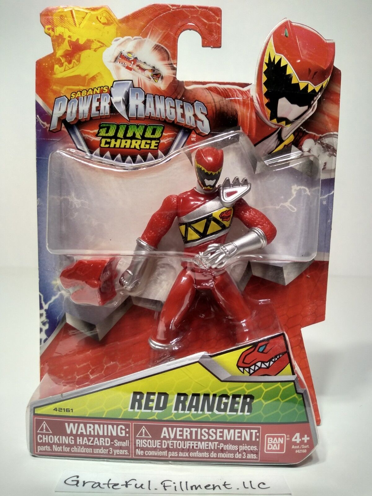 "Saban's Power Rangers Dino Charge RED RANGER Bandai 4"" Actio"