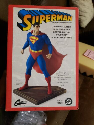 Superman STATUE BY RANDY BOWEN # 3912 of 6100 NEVER DISPLAYED SEINFELD w/BOX