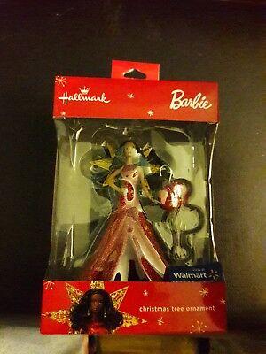 2017 Hallmark Christmas Tree Ornament Barbie African American Walmart Exclusive