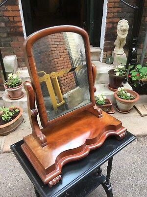 Victorian mahogany table top dressing mirror