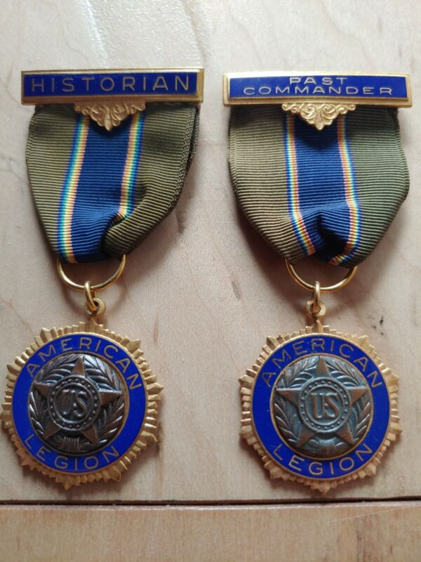 🏅 RARE Collectable Antique American Legion Medal Historian / Past Commander Pin