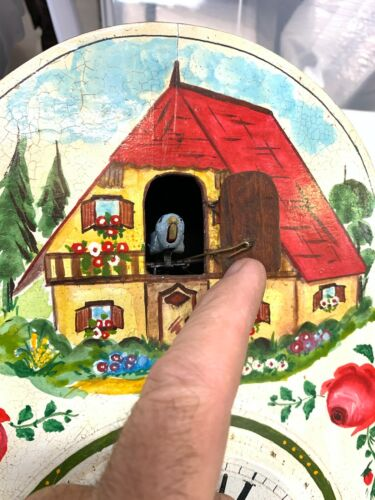 Vintage Painted Black Forest style Cuckoo Clock