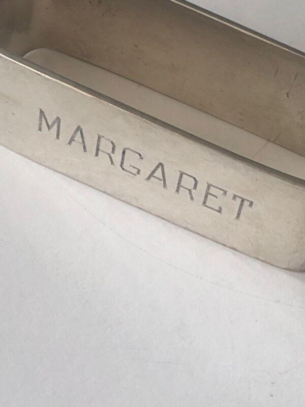 Arts Crafts Clemens Friedell Sterling Pasadena Hand Wrought Napkin Ring Margaret