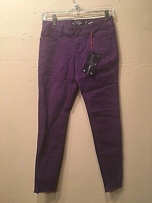 Lip Service Kill City Rock n' Roll Women's Purple Stretch Jeans, size 25 Service Rock N Roll Jeans