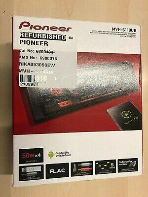 Pioneer MVH-S110UB Car Stereo Radio Head Unit USB MP3 Android 50Wx4 Power AUX