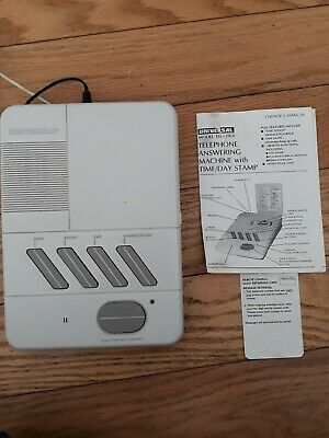 Universal Telephone Answering Machine W/ Time/Day Stamp & Manual Model Tel-2910