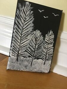 Canvas tree art