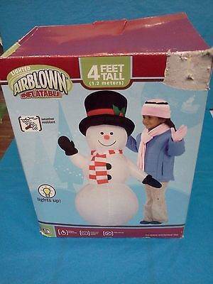 4 Ft. Snowman Airblown/inflatable Lighted Christmas Decoration