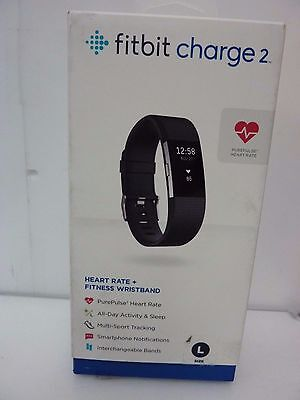 Fitbit Charge 2 Heart Rate & Activity Tracker - Large - New