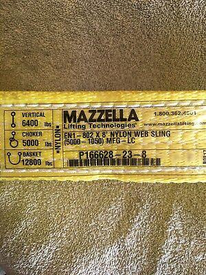 Mazzella Lifting Technologies En1-802 X 8 Nylon Web Sling