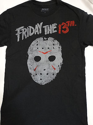 Friday the 13th Jason Voorhees Vintage Hockey Mask Horror Movie T-Shirt