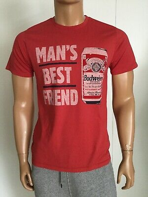 Junk Food Men's Best Friend Budweiser  Men's T-Shirt Size