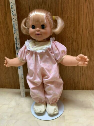 Vintage Toy Biz Baby Loves To Talk Doll Working Condition Eyes Blink, Mouth Move