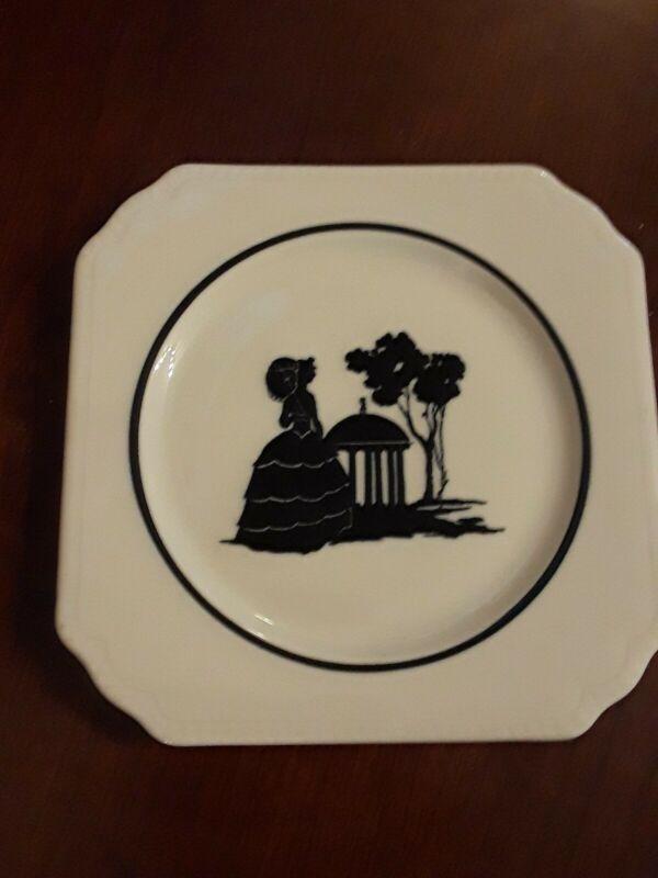 "Chesapeake Ohio C&O Silhouette China Greenbrier Hotel Springhouse 4 7/8"" Plate"