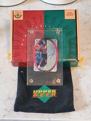 1996 UPPER DECK Michael Jordan SPX Record Breaker Auto Card COA Upper Deck