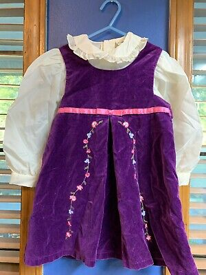 Vintage baby togs 2-piece dress W/ Embroidered Flowers Size 4 Years~~~B3 Baby Togs 2 Piece