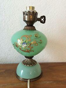 Ancien Pied De Lampe En Opaline Maill E D Cor Fleurs Ebay
