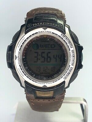 Casio Pathfinder PAS-400B 2632 Fishing Fishermans FishTimer Watch ~ Working