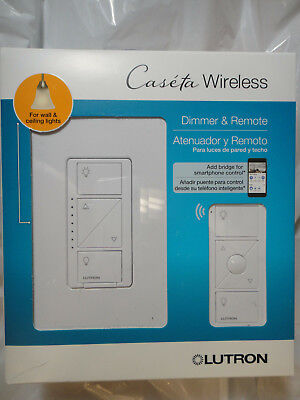 LUTRON CASETA WIRELESS DIMMER REMOTE P-PKG1W-WH-R WALL CEILING BRAND NEW,SEALED