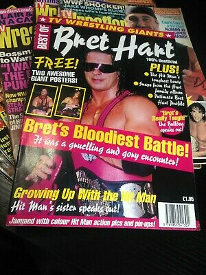 Best Of TV Wrestling Giants Magazine - 1993 Bret Hart Special +