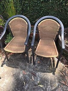 2x cane chairs North Willoughby Willoughby Area Preview
