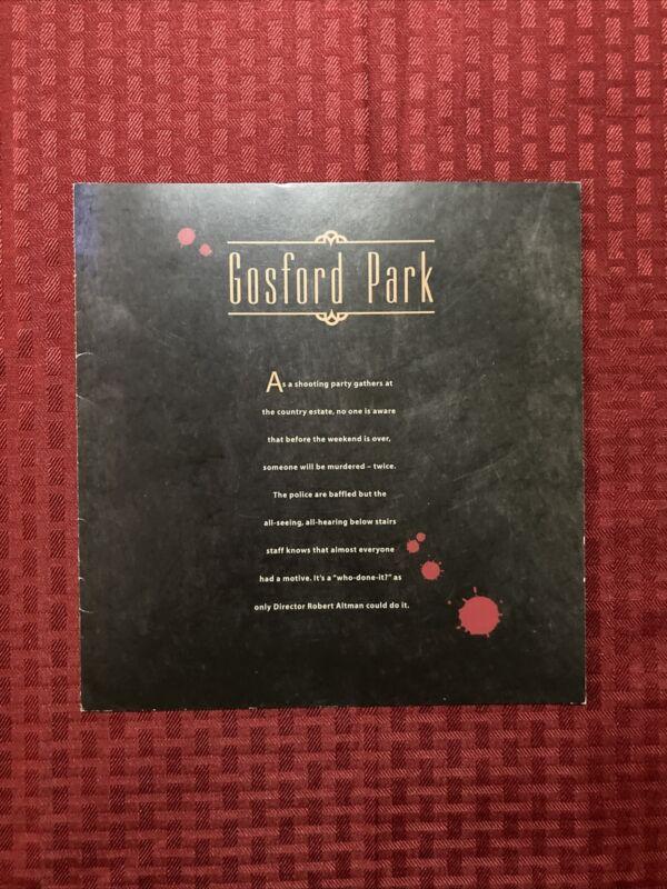 Gosford Park Press Book Tri-fold 2001 Mirren Phillipe Owen Gambon Northam